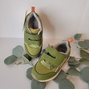 Cat & Jack Toddler boys Olive  green sneakers size 9